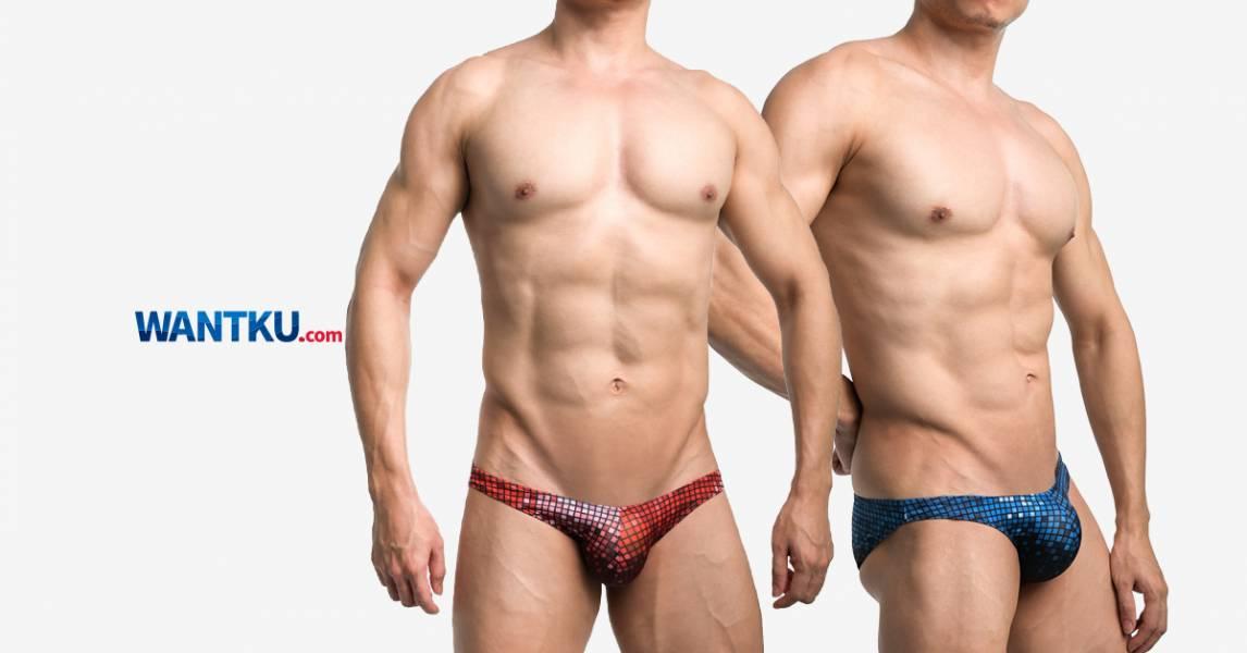 WILLMAX 藍紅馬賽克格子 TDT 三角褲 男內褲 G30121_2 willmax,馬賽克,格子,tdt,三角褲,男內褲,mosaic,grids,briefs,underwear,藍紅,blue,red,g30121