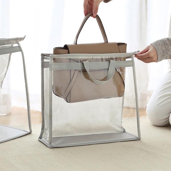 透明包包收納袋 特大號 PlayByPlay,玩生活,居家,衣櫥,牆面,吊掛,包包,皮夾,收納,儲存,透明,可視,PVC,無紡布,防水,防塵,防潮,防霉