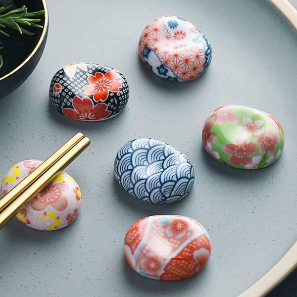和風彩繪陶瓷筷枕 PlayByPlay,玩生活,居家,餐桌,餐廳,餐具,筷架,筷枕,筷托,陶瓷,日式,和風,彩繪,浮世繪,復古