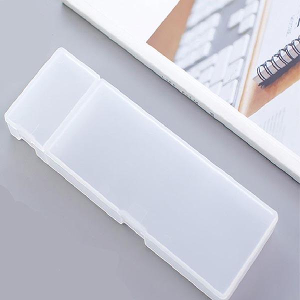 日式雙格文具盒 PlayByPlay,玩生活,生活,日式,簡約,無印風,文具盒,鉛筆盒,收納盒,收納,透明,霧面
