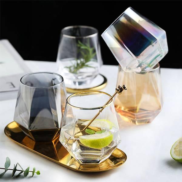 時尚幾何水晶杯 PlayByPlay,玩生活,居家,廚房,餐具,北歐,幾何,角面,鑽石,威士忌杯,酒杯,玻璃杯,水杯,飲料杯,耐高溫,耐低溫,可微波,電鍍