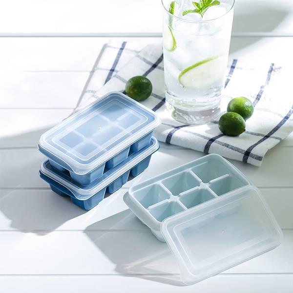 莫蘭迪製冰盒(3入) PlayByPlay,玩生活,居家,廚房,冰箱,夏天,冰,冰塊,製冰盒,莫蘭迪,漸層,防漏,防蟲,防串味,保鮮,密封,分類