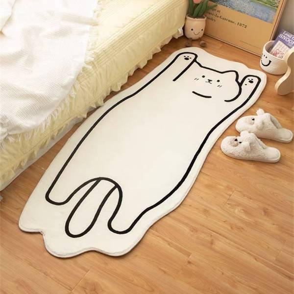 慵懶汪喵長地墊 PlayByPlay,玩生活,居家,地毯,地墊,腳踏墊,止滑墊,吸水地墊,羔羊絨,貓咪,貴賓狗,毛孩,可愛,