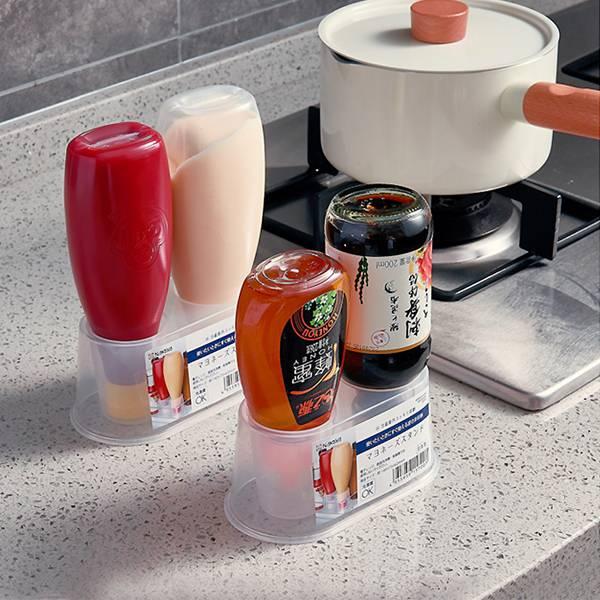 倒立式醬料瓶架(2入) PlayByPlay,玩生活,居家,廚房,烹飪,餐廚,冰箱,檯面,醬料,調味料,瓶罐,收納,冷藏,保鮮,收納盒,置物盒