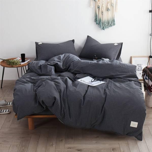 日系水洗棉床包組 雙人加大 PlayByPlay,玩生活,居家,臥室,床包,床罩,棉被,被單,枕頭套,日式,簡約,樸素,純棉,舒適,親膚,透氣,好眠