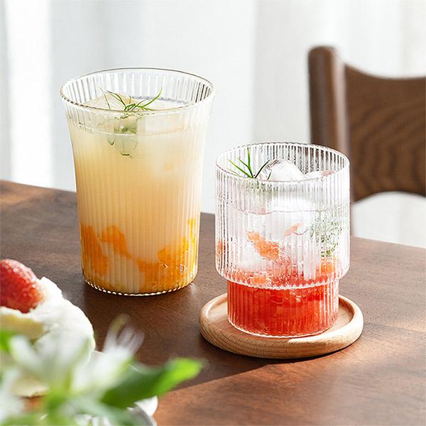 直紋晶透玻璃杯 PlayByPlay,玩生活,居家,餐廳,廚房,水,玻璃,水杯,高硼硅玻璃,耐熱,防爆,豎紋