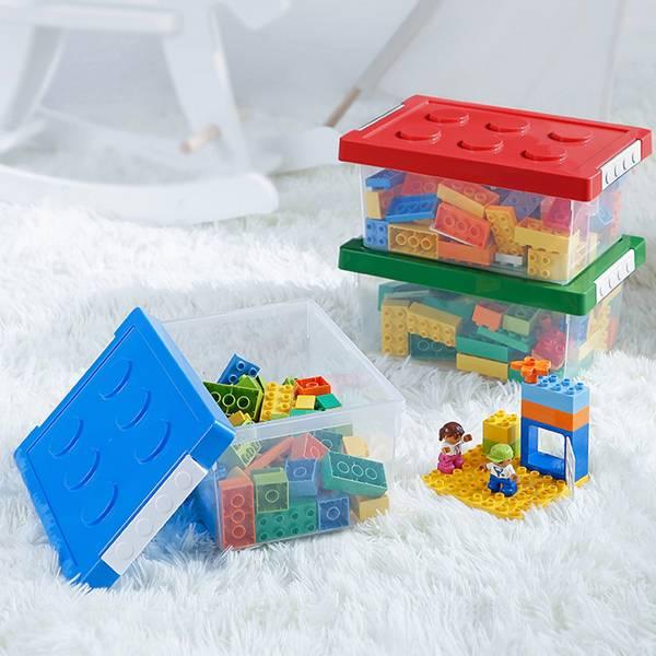 樂高風收納盒 小號 PlayByPlay,玩生活,居家,臥室,客廳,浴室,廚房,書房,櫃,架,收納,置物,儲物,儲藏,盒,箱,塑膠,樂高,積木,童趣,可愛,堆疊,組合,省空間,玩具整理,兒童整理,多功能收納