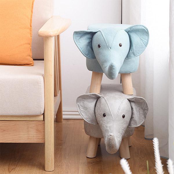 童趣動物椅凳 PlayByPlay,玩生活,居家,臥室,客廳,科技布,防滑,實木椅腳,動物造型,防滑腳墊
