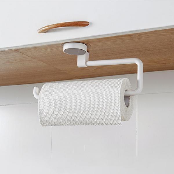 廚房紙巾旋轉掛架 PlayByPlay,玩生活,加長杆距,收納廚房紙巾,無痕黏貼,可承重1kg