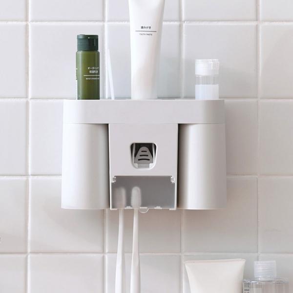 4合1洗漱組 PlayByPlay,玩生活,浴室,牙刷置物架,洗漱套装,壁掛式,洗手間,漱口杯,牙具架