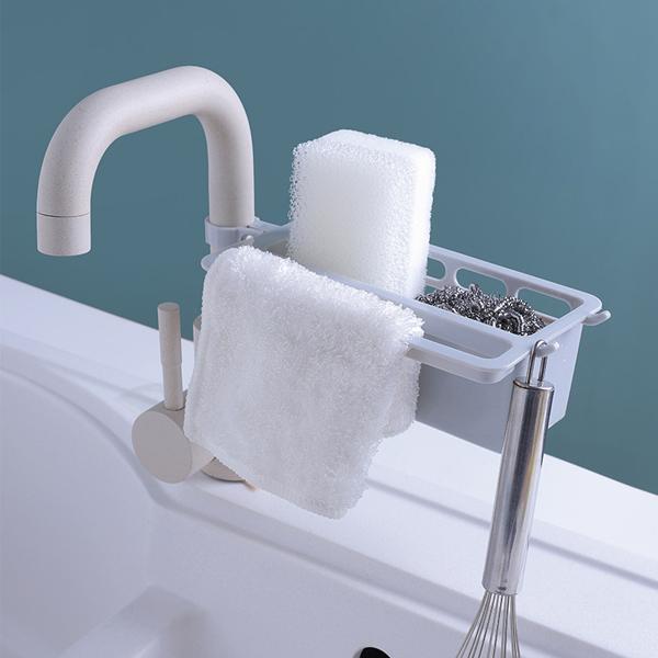水龍頭置物架 居家,廚房,浴室,水龍頭,置物架,收納清潔用品,掛置抹布,掛勾,固定扣,穩固安心,通風瀝水,超省空間