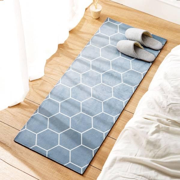 居家蜂窩腳踏墊 大號 PlayByPlay,玩生活,客廳,臥室,居家,地毯,地墊,簡約設計,樸素配色,柔軟短絨,吸水性佳,防滑