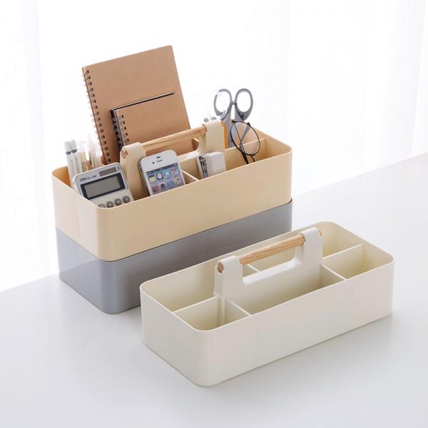 可疊加文具整理盒 簡約,設計,分隔,收納,可堆疊,辦公
