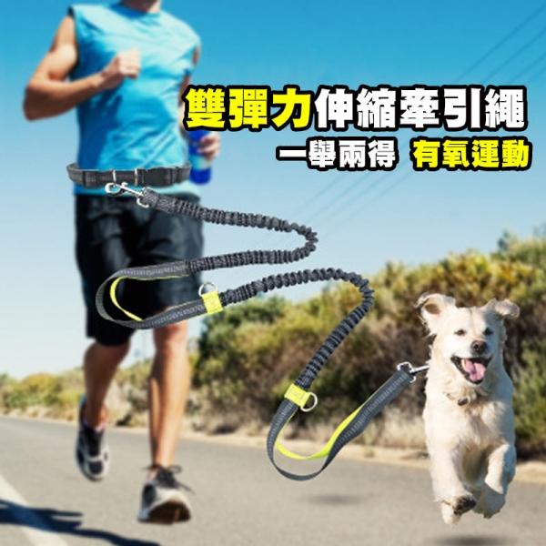 慢跑溜狗神器-雙彈力伸縮牽引繩 遛狗,繩,慢跑,運動,寵物,伸縮,設計