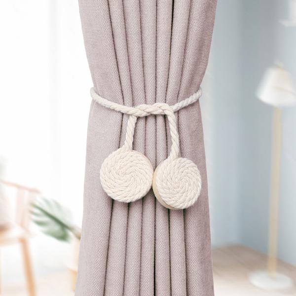 棉繩窗簾綁帶 PlayByPlay,玩生活,居家,客廳,臥室,窗簾,紗簾,固定器,固定帶,綁帶,原木,田園風,多功能,磁吸