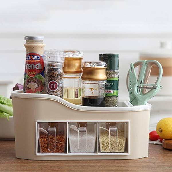 廚房調味料收納盒 PlayByPlay,玩生活,廚房,調味料,收納,收納盒,透明,醬料,瓶子,餐具,廚具,工具