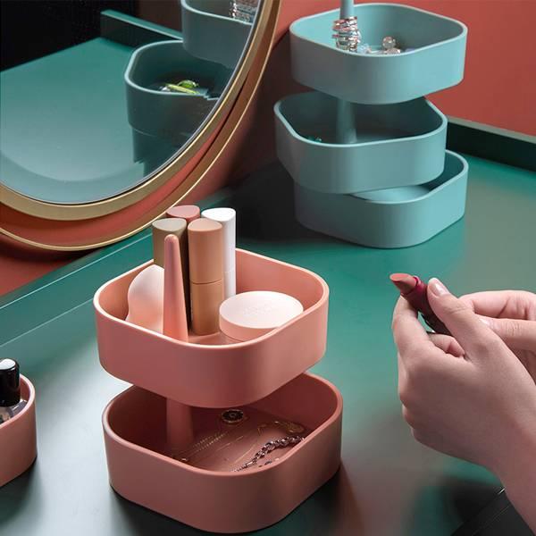 可疊加旋轉收納盒 PlayByPlay,玩生活,居家,桌面,梳妝台,收納,置物盒,收納盒,可疊加,旋轉,飾品,零食,用品,雜物