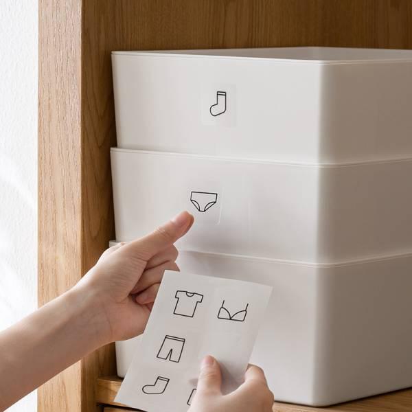 收納用分類貼紙 PlayByPlay,玩生活,收納,貼紙,簡約線型,圖標,整理,分類