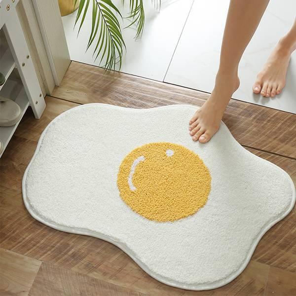 荷包蛋吸水地墊 PlayByPlay,玩生活,居家,浴室,臥室,家飾,地毯,地墊,吸水墊,腳墊,踏墊,超細纖維,吸水,速乾,乾濕分離,TPR乳膠,止滑,防滑,荷包蛋