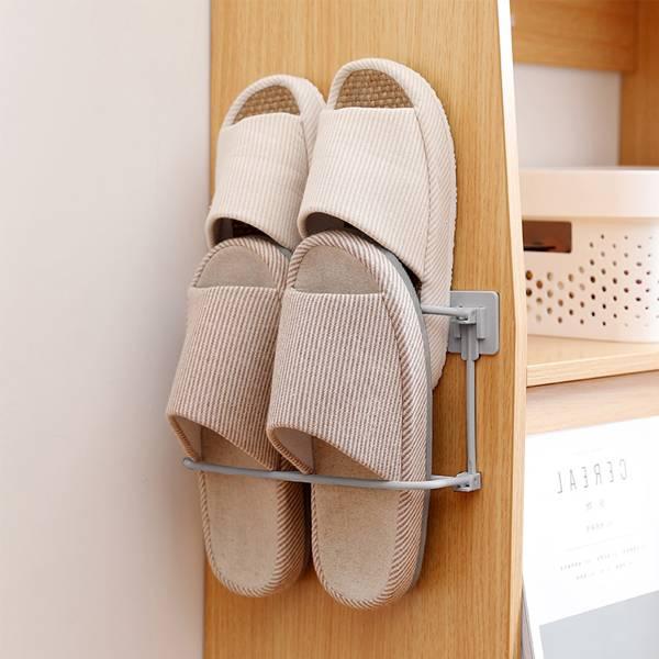 壁掛折疊拖鞋架 PlayByPlay,玩生活,客廳,浴室,居家,拖鞋收納,ABS,吊掛,可折疊,省空間,免釘免鑽,穩固牢靠,輕鬆拿取
