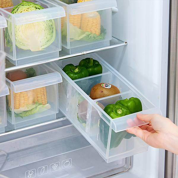 抽拉式冰箱儲物盒 PlayByPlay,玩生活,居家,廚房,冰箱,冷藏,收納盒,儲物盒,儲藏盒,置物盒,保鮮盒,抽屜式,食材收納,食品收納,食品保鮮,分類收納,可堆疊,省空間