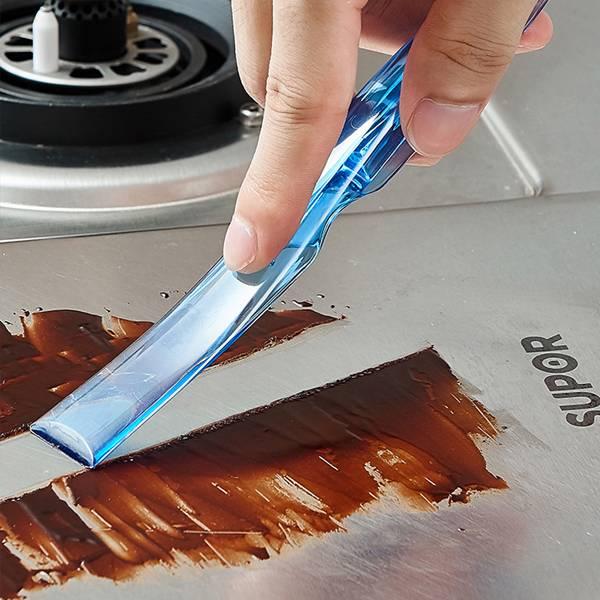 三合一清潔刮刀 PlayByPlay,玩生活,居家,居家清潔,廚房,浴室,三合一,清潔用具,工具,去污,除垢,污漬,刮刀,鏟刀,清潔刀,凹槽,縫隙,可折疊