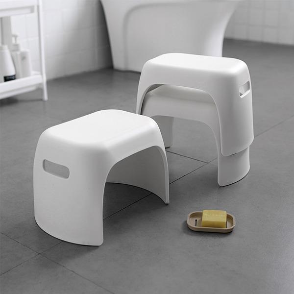 浴室塑料小板凳 PlayByPlay,玩生活,居家,浴室,玄關,浴廁,凳,矮凳,玄關凳,穿鞋凳,踩腳凳,椅,一體成型,可疊加收納,日式,簡約