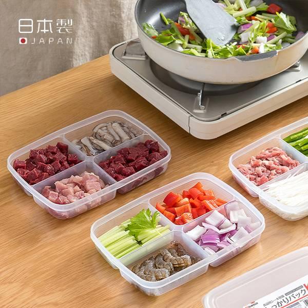 四格食材保鮮盒 PlayByPlay,玩生活,居家,廚房,烹飪,下廚,備料,食材,收納盒,保鮮盒,儲物盒,食物收納,食材收納,食物保鮮,食物保鮮,冷藏