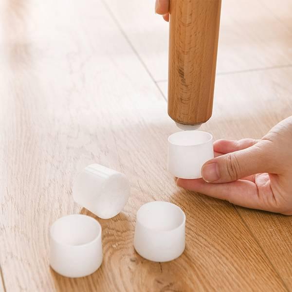 矽膠桌椅腳套(4入) PlayByPlay,玩生活,居家,臥室,餐桌,桌,椅,家具,墊,矽膠,防滑,防霉,防潮,好洗,緩衝,防撞,降噪,安靜