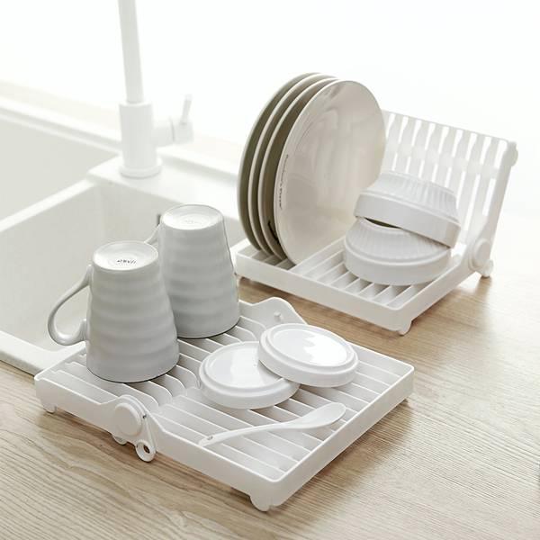 可折疊瀝水碗架 PlayByPlay,玩生活,居家,廚房,碗盤架,優質PP,可折疊,收納碗盤,可平放,擺放杯子餐具,穩妥牢固,省空間