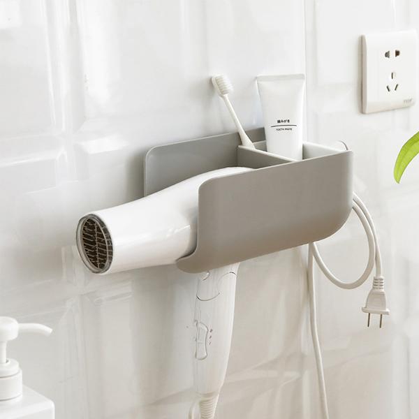 多功能吹風機置物架 PlayByPlay,玩生活,居家,浴室,廁所,浴廁,衛浴,置物,收納,儲物,架,盒,吹風機,洗漱用品,瀝水,多功能,壁掛,省空間