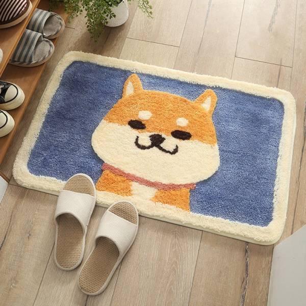 狗狗浴室吸水地毯 PlayByPlay,玩生活,居家,臥室,玄關,浴室,廚房,地墊,地毯,絨,吸水墊,秋田犬,狗,可愛,萌,透氣,吸水,舒適