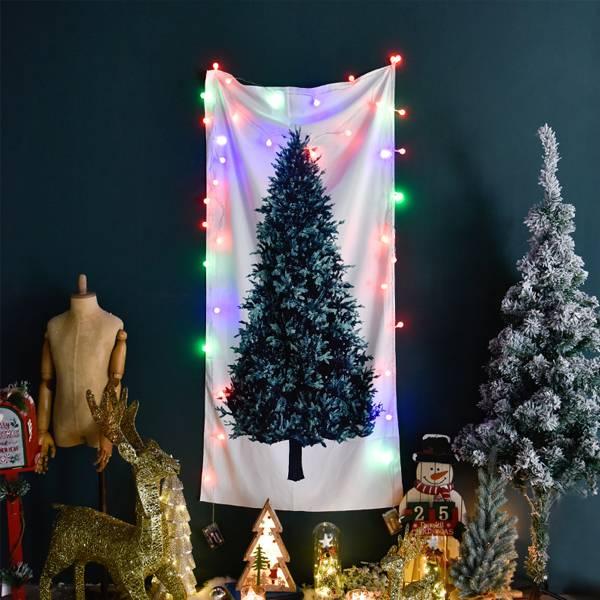 歡慶聖誕掛布 PlayByPlay,玩生活,居家,室內,家飾,聖誕節,耶誕節,聖誕樹,氛圍,掛布,絨毛,柔軟,立體,印花,鮮豔,不褪色,自由搭配,配件