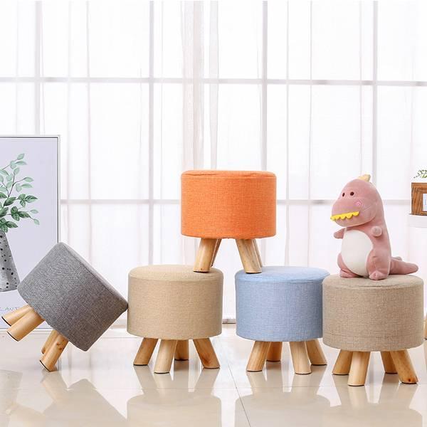 時尚五彩小圓凳 PlayByPlay,玩生活,居家,客廳,臥室,玄關,椅,凳,棉麻,實木,櫸木,耐重,多用途,多功能,收納,省空間