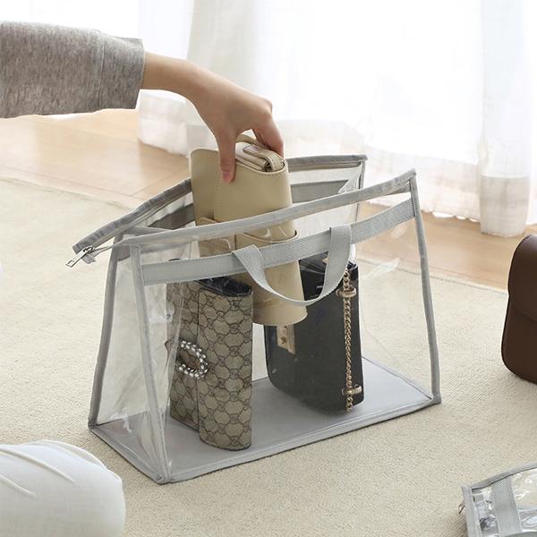 透明包包收納袋 中號 PlayByPlay,玩生活,居家,衣櫥,牆面,吊掛,包包,皮夾,收納,儲存,透明,可視,PVC,無紡布,防水,防塵,防潮,防霉
