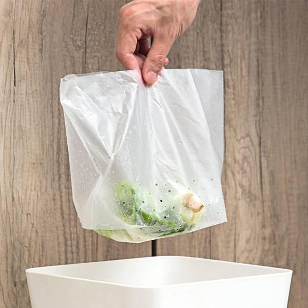 立式垃圾瀝水袋(30入) PlayByPlay,玩生活,居家,廚房,廚餘,蔬果清洗,過濾袋,PE材質,柔韌耐用,不易破,可站立,多孔瀝水,大口徑,拋棄式,乾淨衛生,輕鬆省力,不溢漏