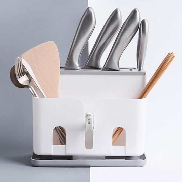 多功能餐具刀架 PlayByPlay,玩生活,廚房,收納,刀具,餐具,多用途,多功能,瀝水底盤,乾燥,通風,集水,好清洗