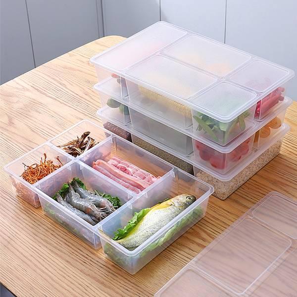 5大格冰箱收納盒 PlayByPlay,玩生活,居家,廚房,冰箱,冷藏,收納盒,儲物盒,儲藏盒,置物盒,保鮮盒,食材收納,食品收納,食品保鮮,分類收納,大容量,防串味,可堆疊,省空間