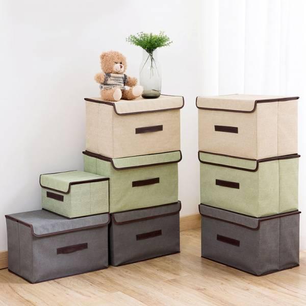 衣物折疊收納箱 PlayByPlay,玩生活,帶蓋防塵,大小兩件套,可折疊設計,收納衣服,疊加收納