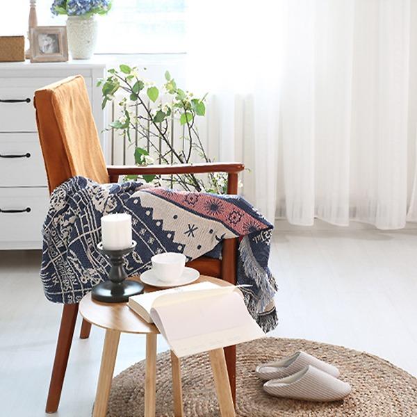 北歐星盤沙發毯(90x90) PlayByPlay,玩生活,居家,沙發毯,地毯,星空圖,環保印染,鮮豔,不褪色,優質混紡,手工,針織,舒適柔軟,用途廣泛