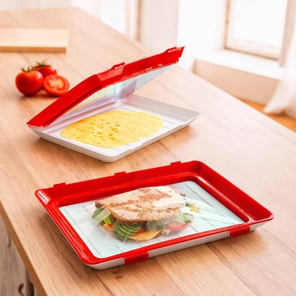 真空薄膜保鮮盤 PlayByPlay,玩生活,居家,廚房,冰箱,冷藏,冷凍,保鮮,食物保存,食物儲藏,食物保鮮,保鮮盒,保鮮盤,真空保鮮,真空密封