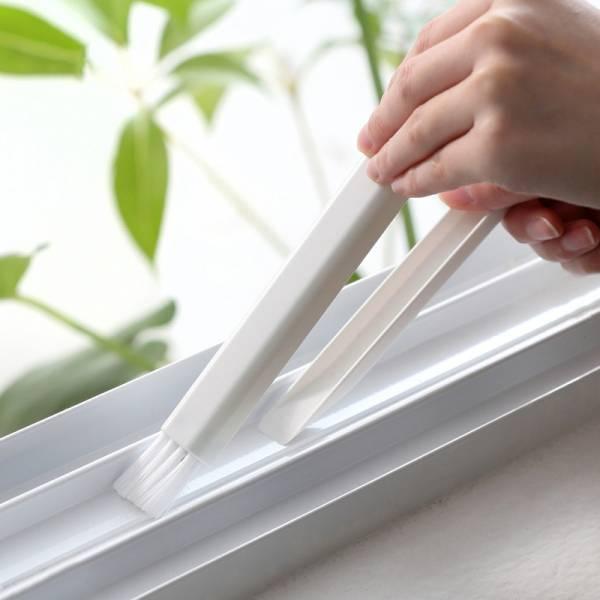 窗槽縫隙刷 PlayByPlay,玩生活,窗槽,縫隙刷,刷子,畚箕,二合一,窗戶凹槽,牆角縫隙,抽屜邊角、鍵盤等狹窄角落的清掃。