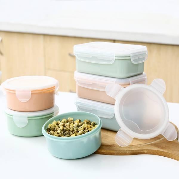 圓形食物保鮮盒 混色3入組 PlayByPlay,玩生活,保鮮盒,食物,圓形,水果,廚房
