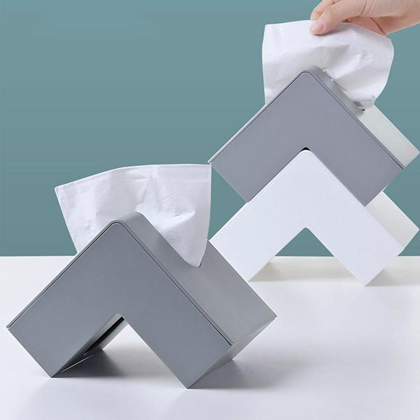 轉角造型面紙盒 PlayByPlay,玩生活,居家,客廳,餐廳,紙巾盒,面紙盒,衛生紙盒,收納盒,儲物盒,置物盒,省空間,角落,轉角,空間活用