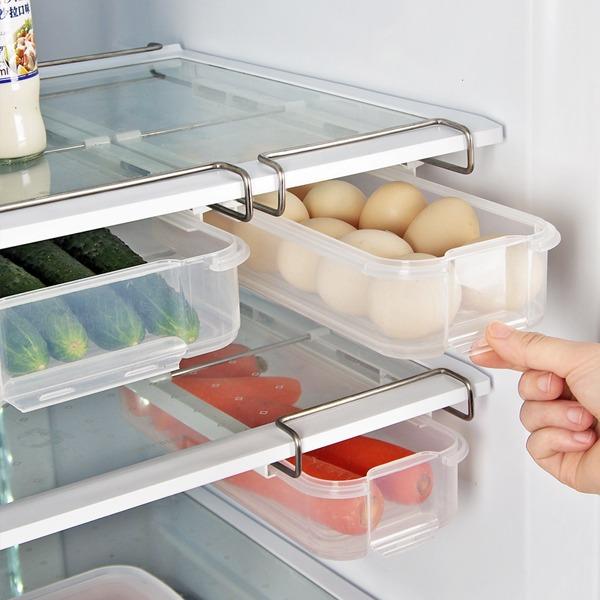 冰箱抽屜保鮮盒 小號 PlayByPlay,玩生活,居家,冰箱,保鮮盒,層板,收納,蔬果,食品,抽屜式設計,推拉順暢,底部拉手,輕鬆捏取