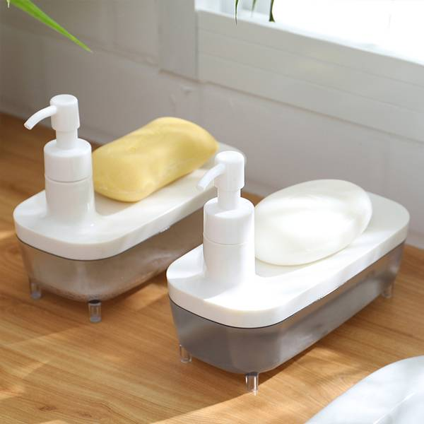 透明船型按壓瓶 PlayByPlay,玩生活,居家,浴室,廚房,按壓瓶,洗手液,清潔劑,按壓,大容量,半透明,一目了然,船型,收納物品,省時,省力