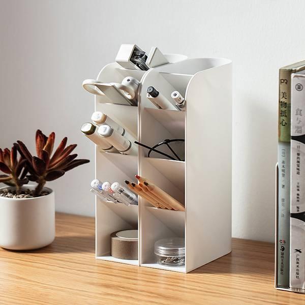 立式斜面收納架 PlayByPlay,玩生活,居家,桌面,檯面,收納架,收納盒,置物架,置物盒,化妝品收納,文具收納,桌面收納,雜物收納,直立,垂直,省空間