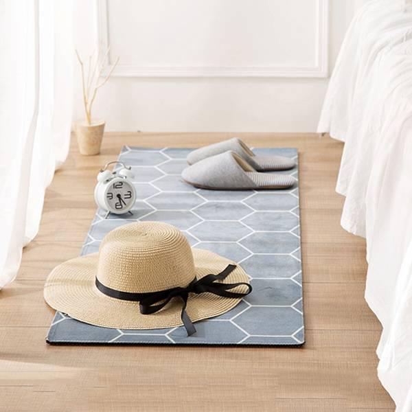 居家蜂窩腳踏墊 小號 PlayByPlay,玩生活,客廳,臥室,居家,地毯,地墊,簡約設計,樸素配色,柔軟短絨,吸水性佳,防滑