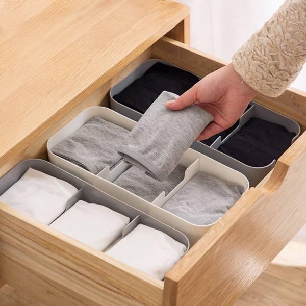 可疊加襪子收納盒 大號 衣櫃,分隔,抽屜,疊加,收納,襪子,小物,雜物,內褲
