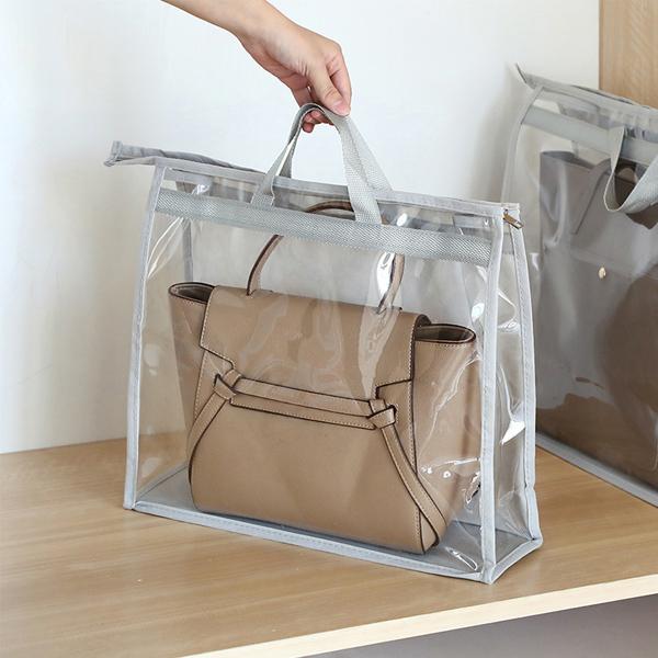透明包包收納袋 大號 PlayByPlay,玩生活,居家,衣櫥,牆面,吊掛,包包,皮夾,收納,儲存,透明,可視,PVC,無紡布,防水,防塵,防潮,防霉